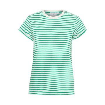 Saint Tropez T-shirt Strepen Groen/Wit