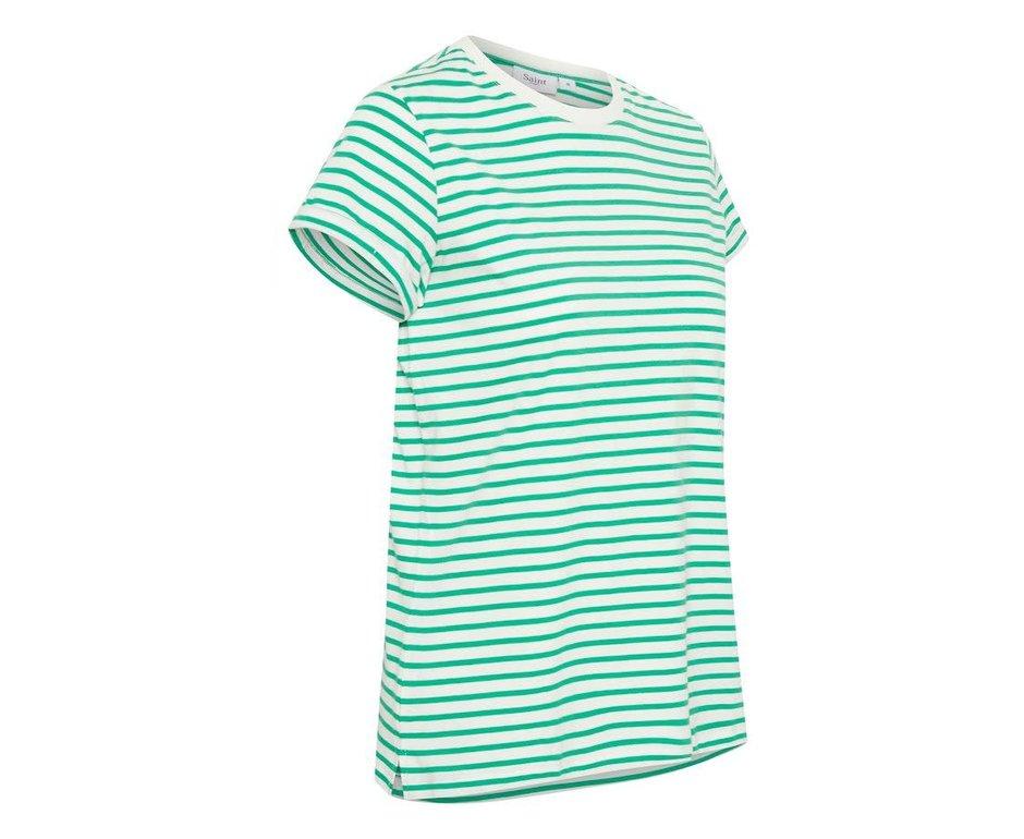 Saint Tropez T-shirt Groene Streep