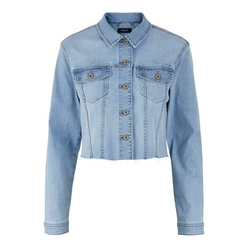Pieces Pieces Cropped Denim Jacket Light Blue