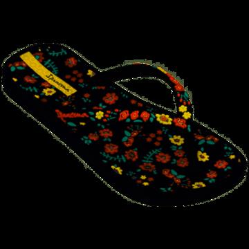 Ipanema Ipanema Zwarte Kinderslippers Met Bloemen