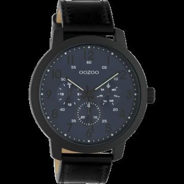 Oozoo Timepieces Oozoo Horloge Zwart/Donkerblauw