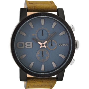 Oozoo Timepieces Oozoo Horloge Bruin/Blauw/Grijs