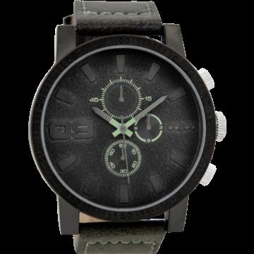 Oozoo Timepieces Oozoo Horloge Donkergrijs/Groen