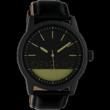 Oozoo Timepieces Oozoo Horloge Zwart/Groen