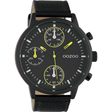 Oozoo Timepieces Oozoo Horloge Zwart Met Groene Details