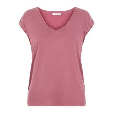 Pieces Pieces Basic T-Shirt Roze