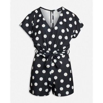 Sisters Point Sisters Point Playsuit Met Stippen Zwart/Wit