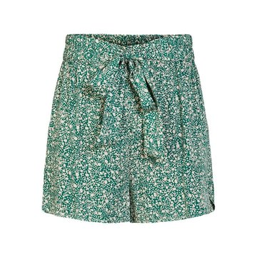 Pieces Pieces High Waist Short Groen Met Stippen