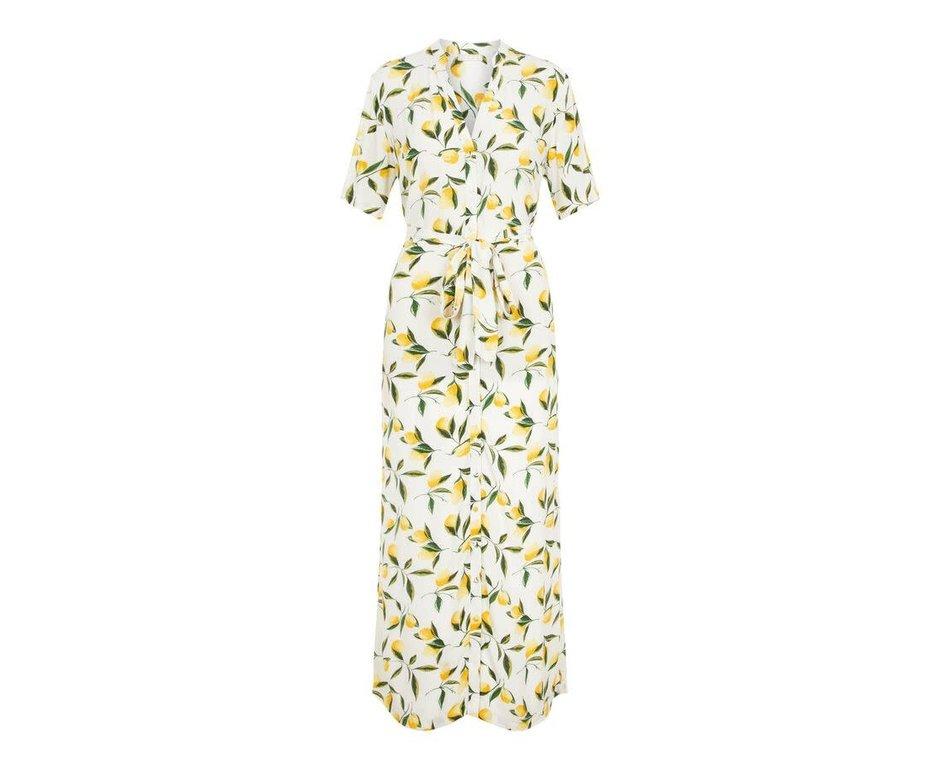 Pieces Pieces PC Saggi Midi Dress Lemons