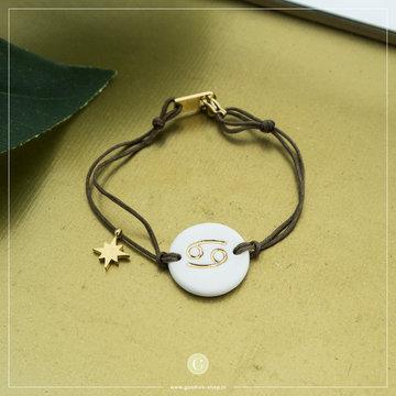 Zag Bijoux Zag Bijoux Armband Koord Sterrenbeeld Kreeft