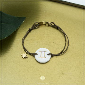 Zag Bijoux Zag Bijoux Armband Koord Sterrenbeeld Tweeling