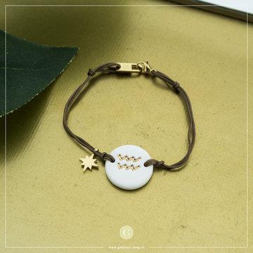 Zag Bijoux Zag Bijoux Armband Koord Sterrenbeeld Waterman