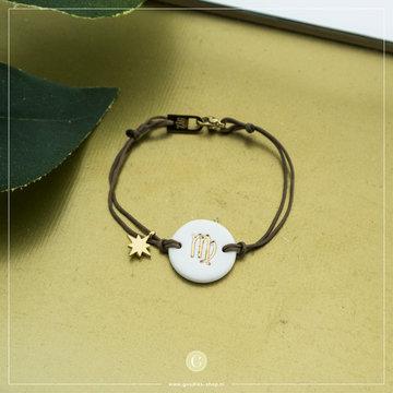 Zag Bijoux Zag Bijoux Armband Koord Sterrenbeeld Maagd