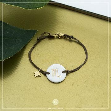Zag Bijoux Zag Bijoux Armband Koord Sterrenbeeld Schorpioen