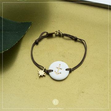 Zag Bijoux Zag Bijoux Armband Koord Sterrenbeeld Boogschutter