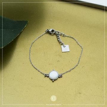 Zag Bijoux Zag Bijoux Zilverkleurige Armband Met Parel