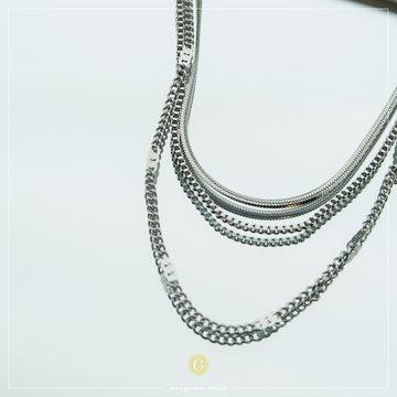 Zag Bijoux Zag Bijoux Zilverkleurig Ketting Multi Chain
