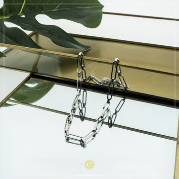 Zag Bijoux Zag Bijoux Zilverkleurige Ketting Big Chain