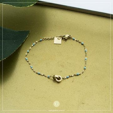 Zag Bijoux Zag Bijoux Goudkleurige Armband Mint Beads