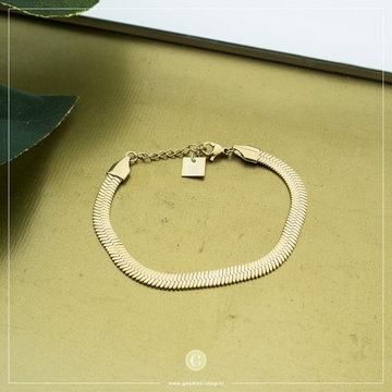 Zag Bijoux Zag Bijoux Goudkleurige Armband Flat Chain