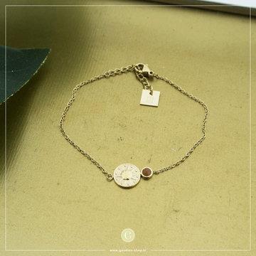 Zag Bijoux Zag Bijoux Goudkleurige Armband Coin Zon