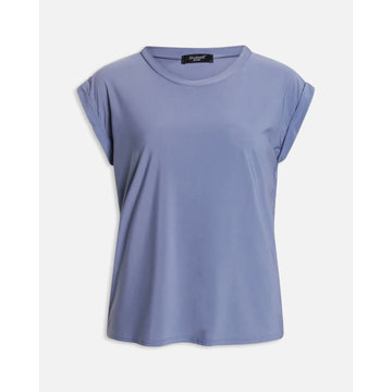 Sisters Point Sisters Point Basic T-Shirt Paars Met Ronde Hals