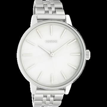 Oozoo Timepieces Oozoo Horloge Zilver/Parelmoer