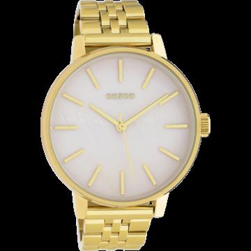 Oozoo Timepieces Oozoo Horloge Goud/Roze Parelmoer