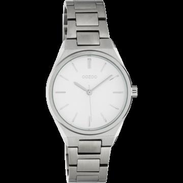 Oozoo Timepieces Oozoo Horloge Zilverkleurig/ Wit