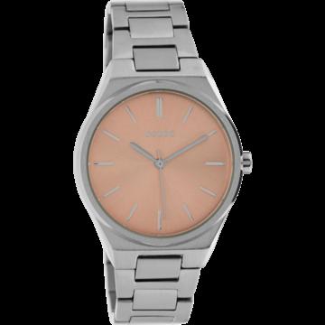 Oozoo Timepieces Oozoo Horloge Zilverkleurig/Roze