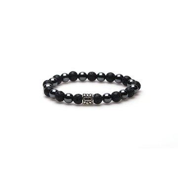 Karma Karma Black Panther silver logo bead