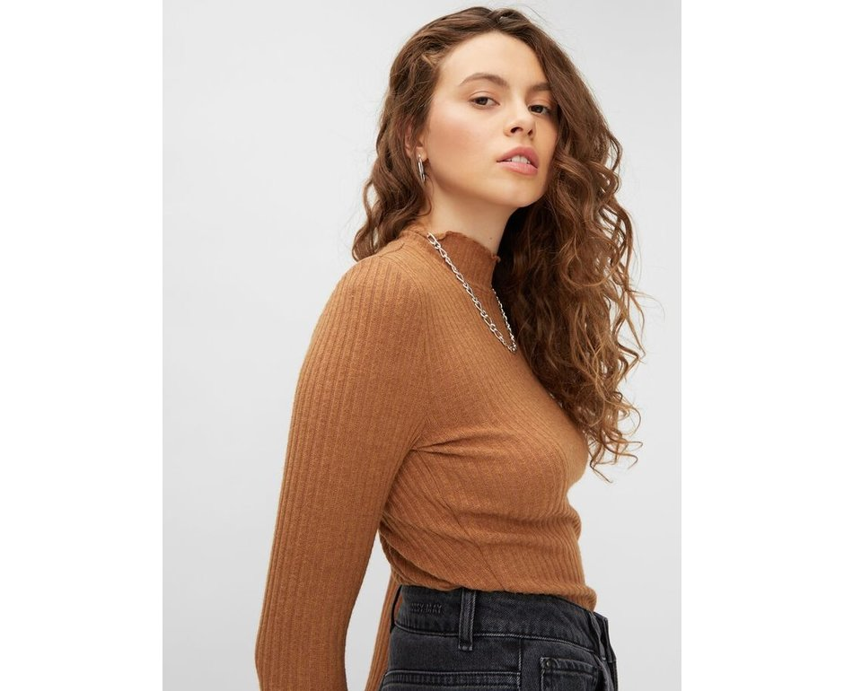 Noisy May NM Berry l/s high neck top