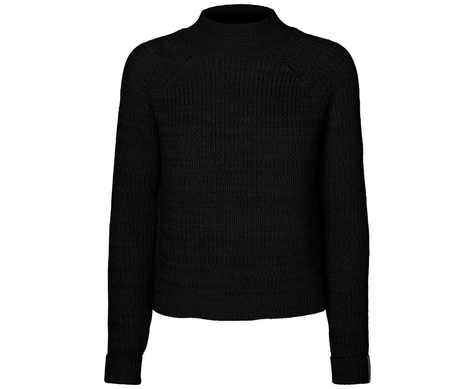 Noisy May NMSIESTA L/S HIGH NECK CROPPED KNIT BG Black