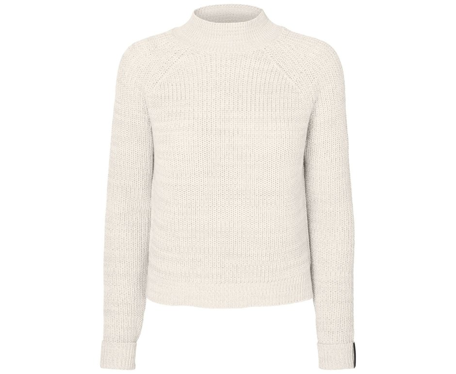 Noisy May NMSIESTA L/S HIGH NECK CROPPED KNIT BG Sugar Swizzle