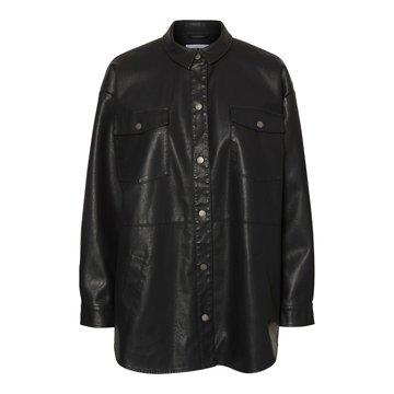 Noisy May Noisy May Leren Jacket Zwart