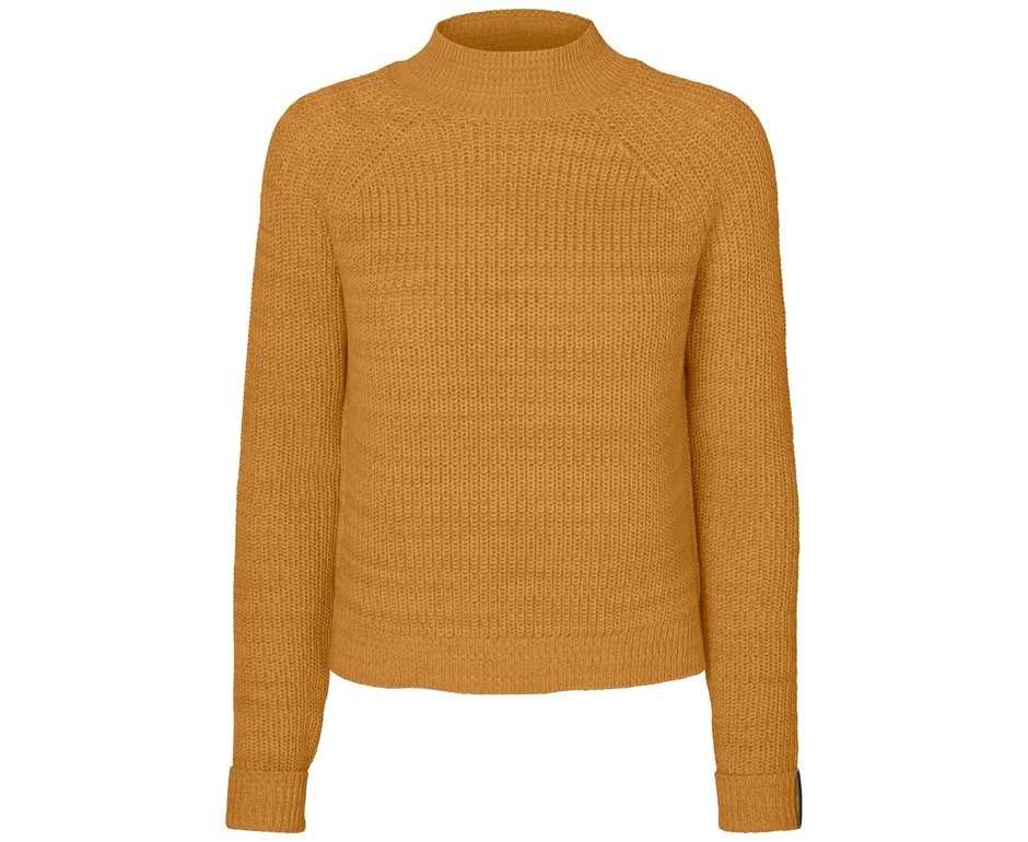 Noisy May NMSiesta L/S High Neck Cropped Knit BG Inca Gold