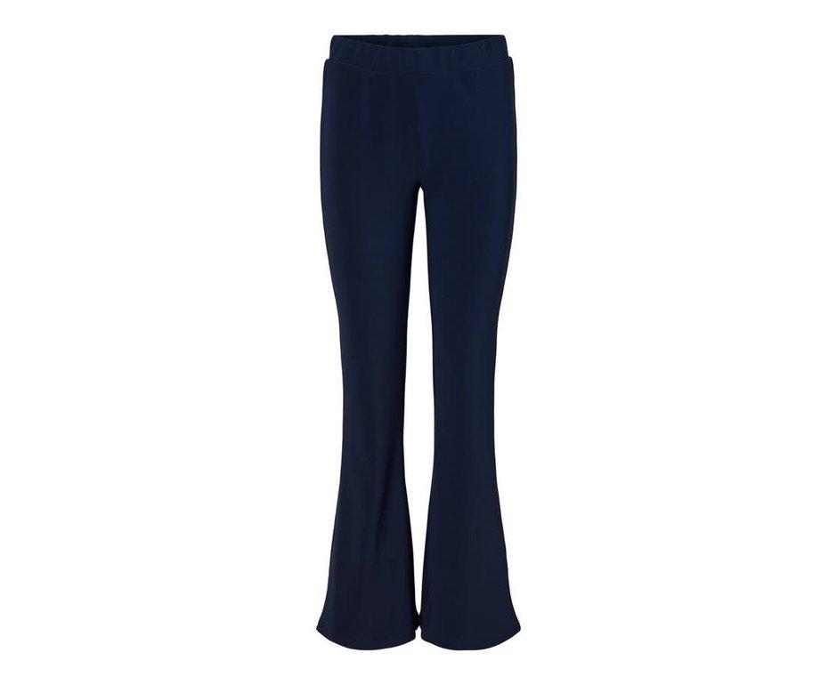 Noisy May Noisy May NM Billie Rib Flared Pants Blue