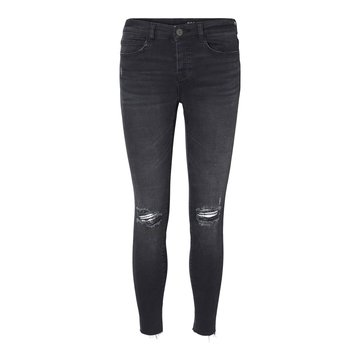 Noisy May Noisy May Zwarte Skinny Jeans Met Destroyed Details