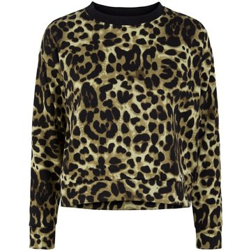 Pieces Pieces Sweater Panterprint Groen/Zwart