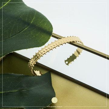 By Jam Gioielli By Jam Goudkleurige Spang Armband