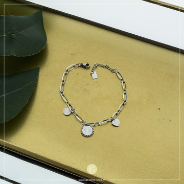 By Jam Gioielli By Jam Zilverkleurige Armband Bedels Coin Bliksem