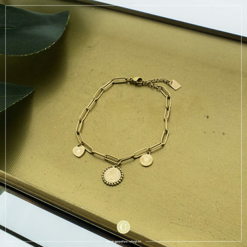 By Jam Gioielli By Jam Goudkleurige Armband Bedels Coin
