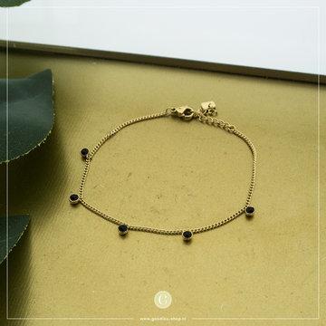 By Jam Gioielli By Jam Goudkleurige Armband Crystallen Zwart