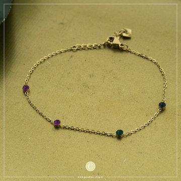 By Jam Gioielli By Jam Goudkleurige Armband Gekleurde Crystallen