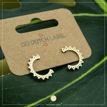 Go Dutch Label GDL Goudkleurige Oorbellen Halve Ringetjes