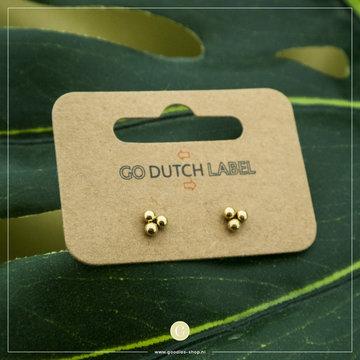 Go Dutch Label GDL Goudkleurige Oorbellen Drie Dots