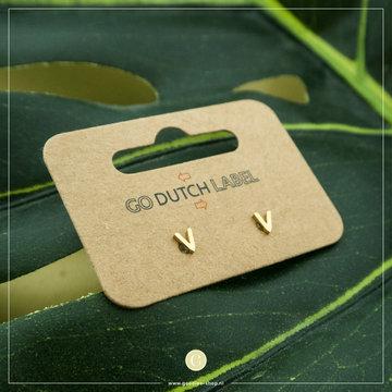 Go Dutch Label Go Dutch Label Oorbellen Little V E8838 Goudkleurig