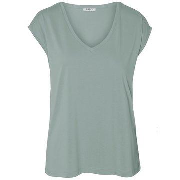 Pieces Pieces Basic T-Shirt Groen V-Hals