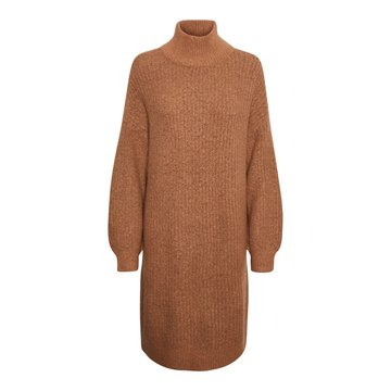 Noisy May Noisy May Gebreide Sweater Dress Bruin