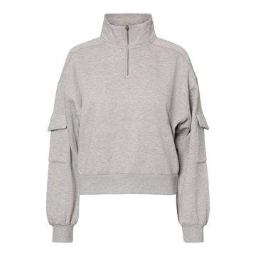 Noisy May Noisy May Grijze Sweater Met Rits